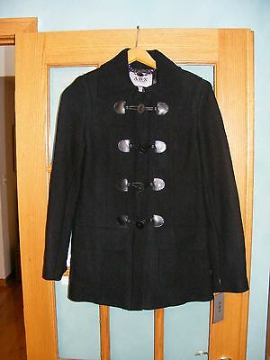 ABS Allen Schwartz SILVER LABEL Black Wool Coat Jacket Size S NWT