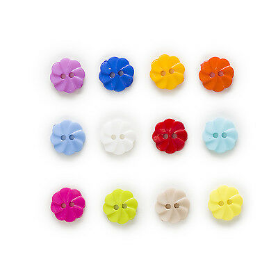 100pcs 2 hole Round Nylon Buttons Clothing Decor Sewing Scrapbooking Home 13mm