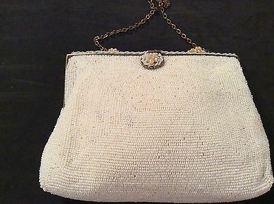Vintage Antique DeLill Beaded Frame Purse Hand Made in France