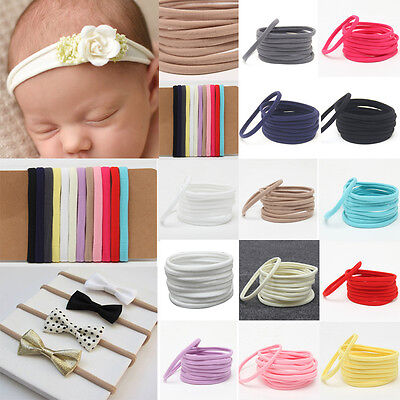 10pcs Cute Baby Girl Kids Spandex Nylon Elastic Headband Headwear Accessories