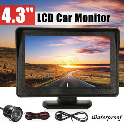 Car Rear View Kit 4.3'' LCD Monitor + Night Vision Reverse Parking Backup Camera