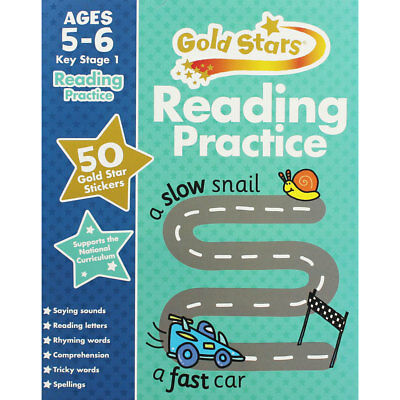Gold Stars Reading Practice Ages 5-6 Key Stage 1 (Paperback), , Brand New