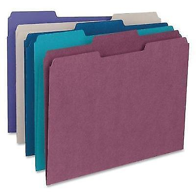 Smead File Folder, 1/3-Cut Tab, Letter Size, Assorted Colors, 100 per Box, New
