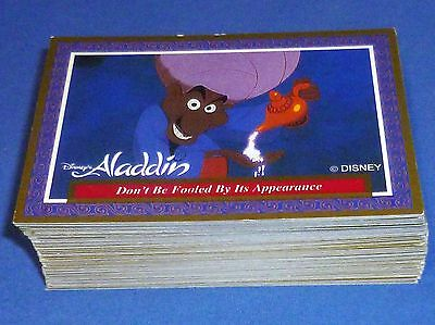 1999 Aladdin Walt Disney Trading Card Part Set 90 Cards of 100 No Swaps Dynamic