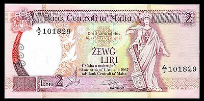 Malta. Two Lira, A/3 101829, (1989), Good Extremely Fine.