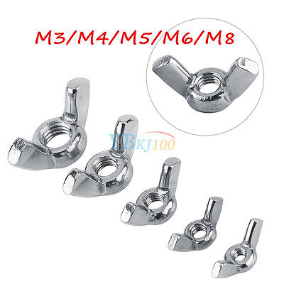 10pcs M3 M4 M5 M6 M8 316 Stainless Steel Wing Nuts Butterfly Nut DIN315 fr Bolts