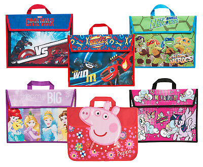 Kids Character Book Bag Boys Girls Childrens Back to School Reading Bags Satchel