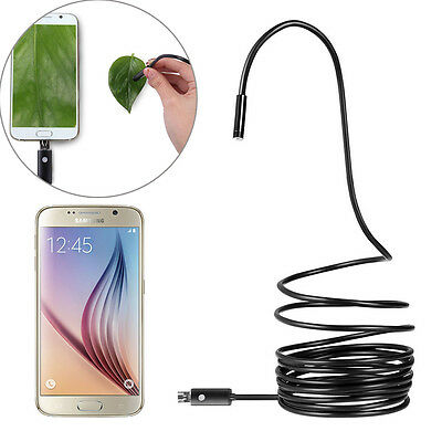 Waterproof USB Endoscope Borescope Inspection HD Camera 5M 8mm for Android Phone