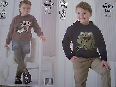 Baby/Child's Hoodie & Sweater DK Knitting Pattern King Cole 3710