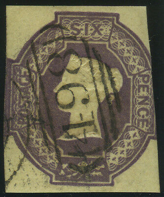 "SG 60 6d purple, fine used example with very neat ""498"" (Manchester) numeral can"