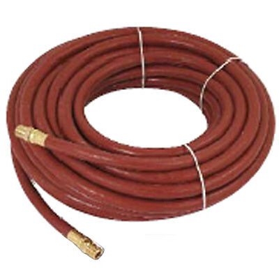 "NEW 30ft X 1/4"" INCH RUBBER AIR LINE HOSE FOR COMPRESSOR SPRAY GUN AND AIR TOOLS"