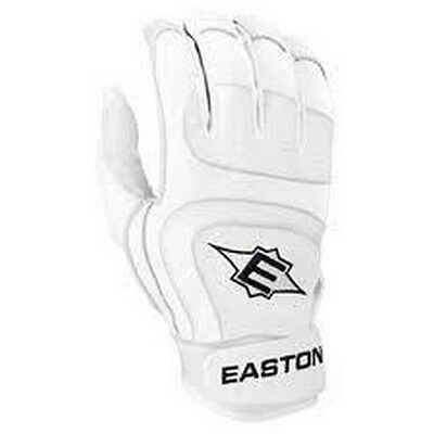1 Pair Easton SV12 Pro Medium White Youth Leather Batting Gloves New In Wrapper!