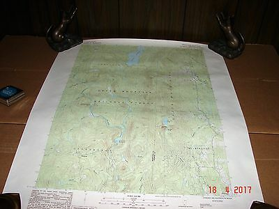 1986 Mount Snow Vt., Vermont, Green Mountain National Forest Topographic Map