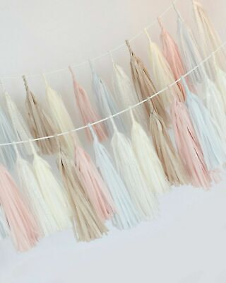 Dusty blush paper tassel garland - fringe bunting- party decorations - banner