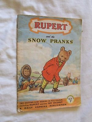RUPERT and The Snow Pranks - Adventure Series No 31