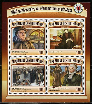 CENTRAL AFRICA 2017 500th ANNIVERSARY OF THE REFORMATION MARTIN LUTHER SHT MINT