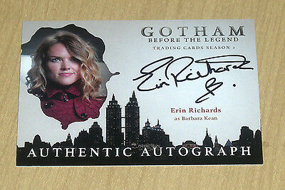 2017 Cryptozoic Gotham season 2 autograph card Erin Richards as BARBARA KEAN