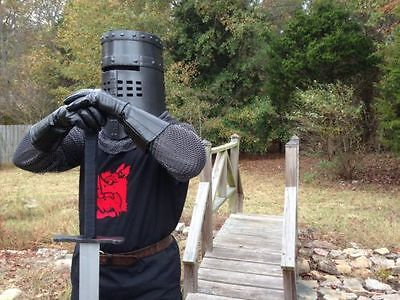 Monty Python Holy Grail Inspired Black Knight  Medieval Surcoat Tabard Tunic NEW
