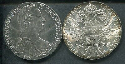 ÖSTERREICH 1780 - 1 Maria Theresia Taler in Silber, stgl.