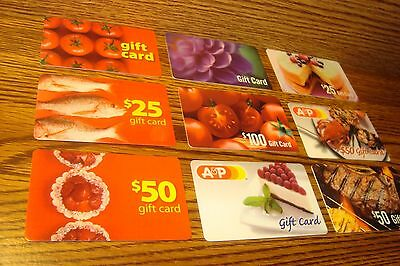 #9 (Nine) A&P Assorted GIFT CARDs NO VALUE-Never Used or Activated Collectable