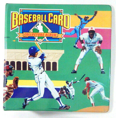 Baseball Card Collectors Album with colorful baseball players on cover