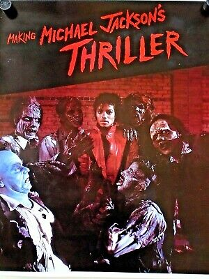"""Michael Jackson """"the making of Thriller"""" vintage poster / Exc. cond. / 25 X 29"""""""