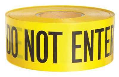 BRADY 91451 Barricade Tape, Yellow/Black, 1000ft x 3In