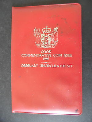 1969 New Zealand Cook Commemorative Uncirculated Coin Set