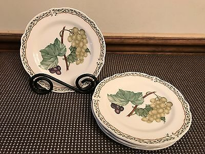"Noritake ""ROYAL ORCHARD"" #9416 ~ Set of 4 ~ Bread Plates ~ 6 1/2"""