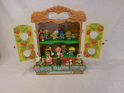 Strawberry Shortcake Berry Patch Display Case + Miniatures Vintage