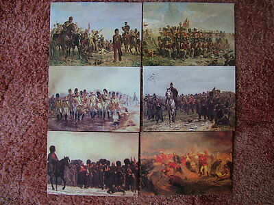 6 Card Set No 7 Postcards MILITARY PAINTINGS OF LADY ELIZABETH BUTLER. Mint cond
