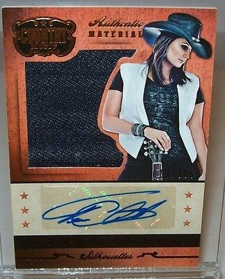 Terri Clark 2014 Panini Country Music Autographed Material Card 013/306 Made