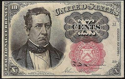 SERIES 1874 FRACTIONAL CURRENCY 10 CENT MEREDITH NOTE PAPER MONEY Fr 1266 CH AU