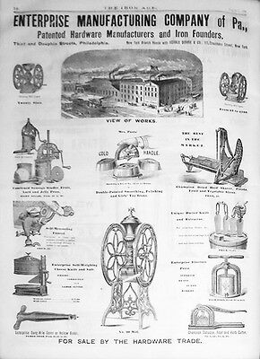 -Huge- 1879 -Iron Age- Industrial Metalworking Bound Magazine Book - Hawaii