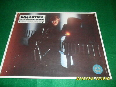 1970 Battlestar Galactica Cylon Starbuck Movie Lobby Poster French Quebec Seal