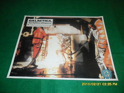 1970's Battlestar Galactica Cylon Attack Movie Lobby Poster French Quebec Seal