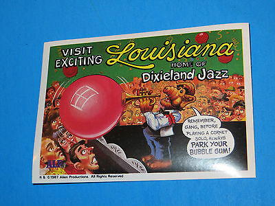 1987 Alf Trading Card Sticker Visits Louisiana Home Of Dixieland Jazz