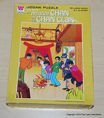 1973 The Amazing Chan & The Chan Clan Jigsaw Puzzle Hanna-Barbera Complete!