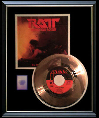 Ratt Round And Round Rare Gold Record Disc 45 Rpm  Rare !