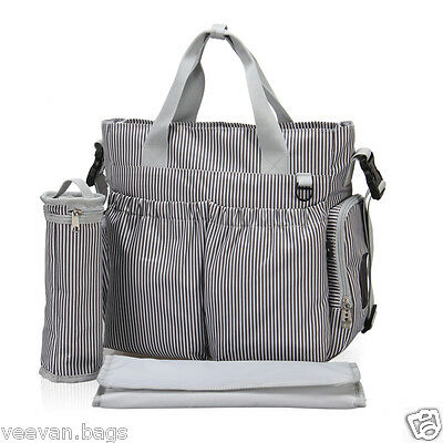 3pcs Baby Mom Changing Diaper Nappy Bag Mummy Mother Shoulder Messenger Handbag
