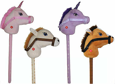 NEW Kids Hobby Horse or Unicorn with Galloping Neighing Sounds Childrens Toy