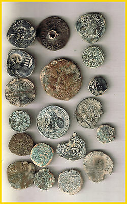 LOT  19 SPANISH  ANCIENT COINS OF DIFERENT TIMES-MEDIEVAL-COLONIAL-ROMA etc.