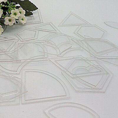 Set of 54 Acrylic Ruler Quilt Patchwork Template Quilting Sewing Tool DIY