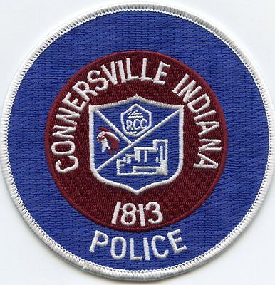 CONNERSVILLE INDIANA IN round POLICE PATCH