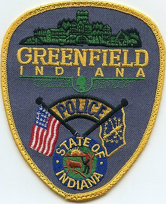 GREENFIELD INDIANA IN state flag POLICE PATCH
