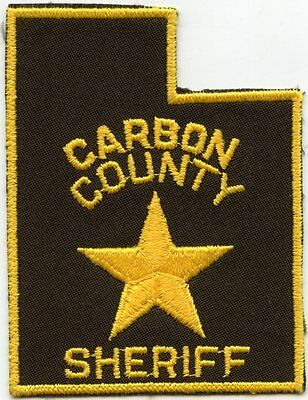 old vintage CARBON COUNTY UTAH UT state shape shaped SHERIFF POLICE PATCH