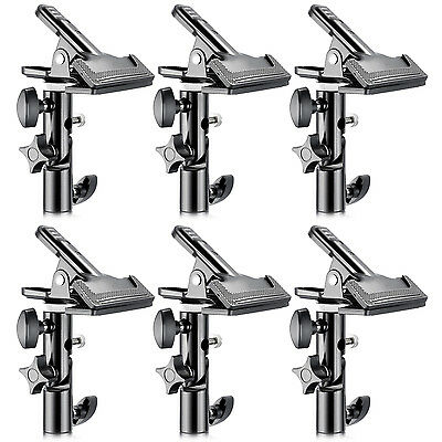 """Neewer 6pcs Metal Clamp Holder with 5/8"""" Light Stand Attachment for Reflector"""