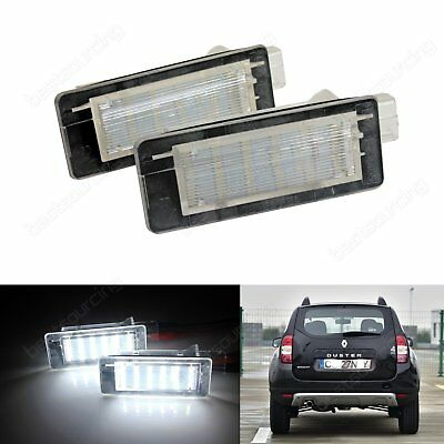 Dacia Logan Lodgy Duster Canbus LED License Number Plate Light Lamps Xenon White