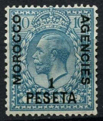 Morocco Agencies 1914-1926 SG#135, 1p On 10d Turqoise Blue KGV Used #D47457