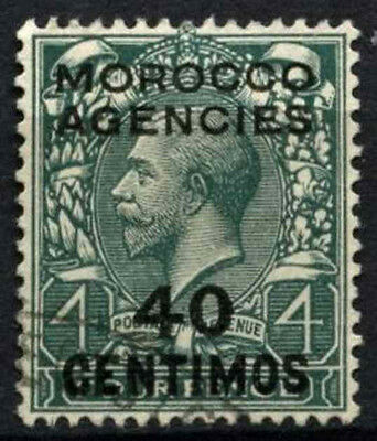 Morocco Agencies 1914-1926 SG#134, 40c On 4d Grey Green KGV Used #D47454